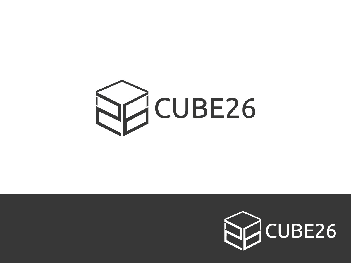 modern masculine architecture logo design for cube26 by