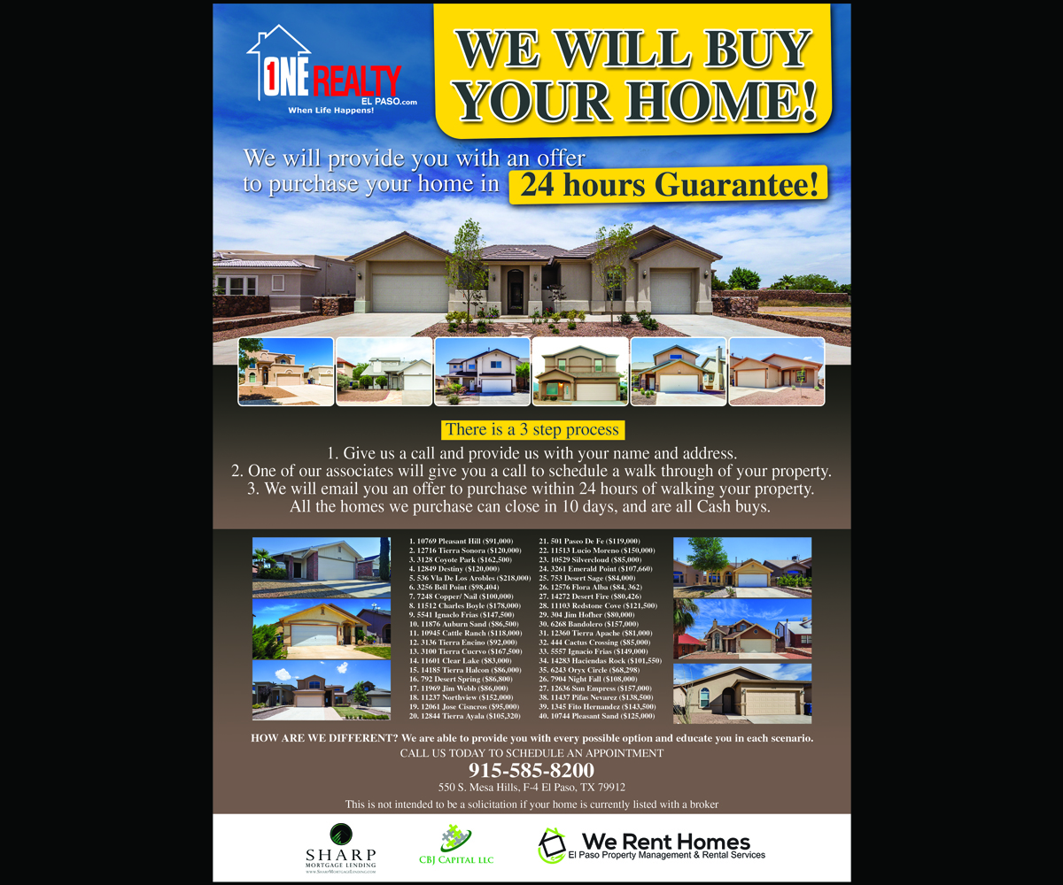 Professional, Serious, Purchase Flyer Design for a Company by Sajal ...