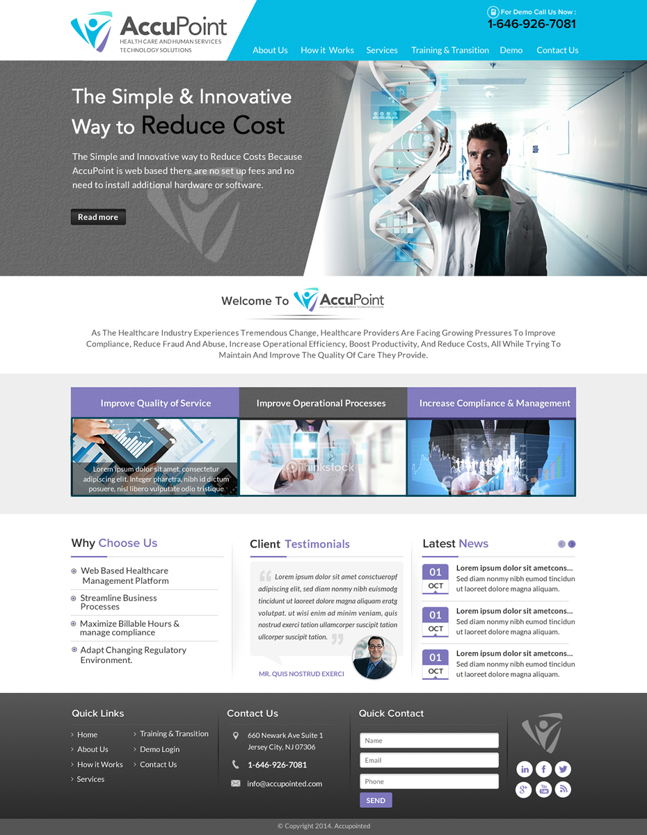 Modern, Professional Web Design for a Company by Sbss | Design #4615885