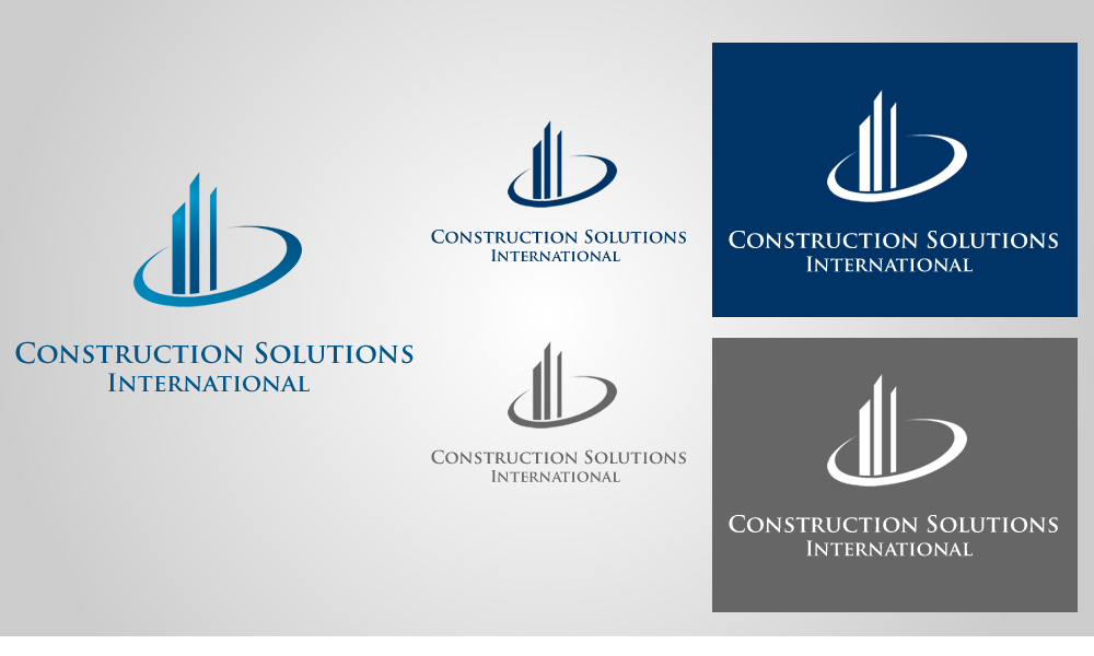 Professional serious construction logo design for for International design company