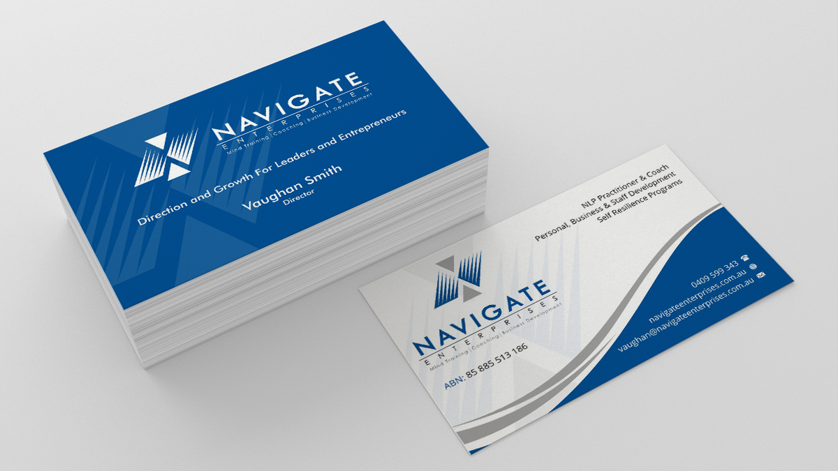 Serious, Modern Business Card Design for Vaughan Smith by ...