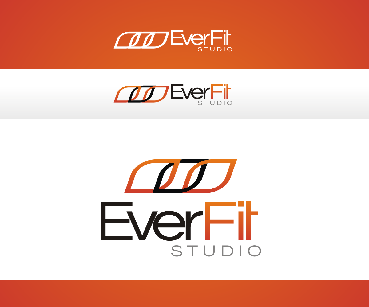 Bold modern logo design for everfit or everfit studio by for D for design