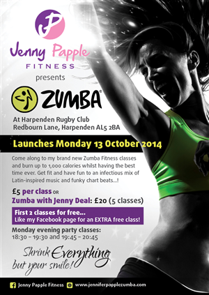 Flyer Design by laxman2creative - Jenny Papple Fitness Flyer Design