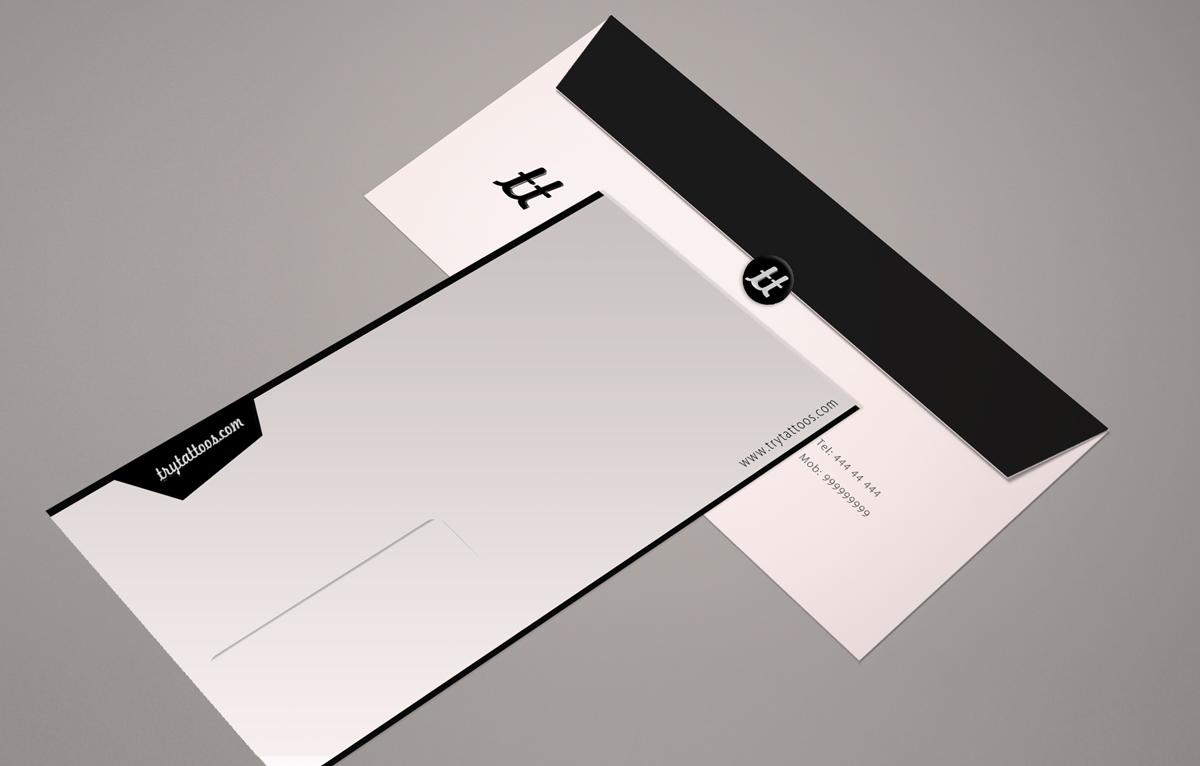 13 Modern Elegant Tattoo Envelope Designs For A
