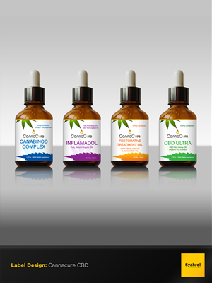 label design for cannacure needs a label design for their product line