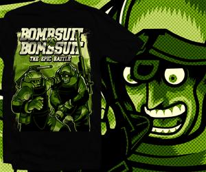 T-shirt Design by furihando - Bombsuit vs. Bombsuit Epic Battle