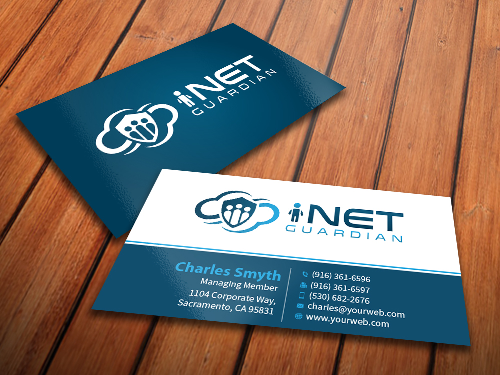 Professional, Serious, Internet Business Card Design for a Company ...