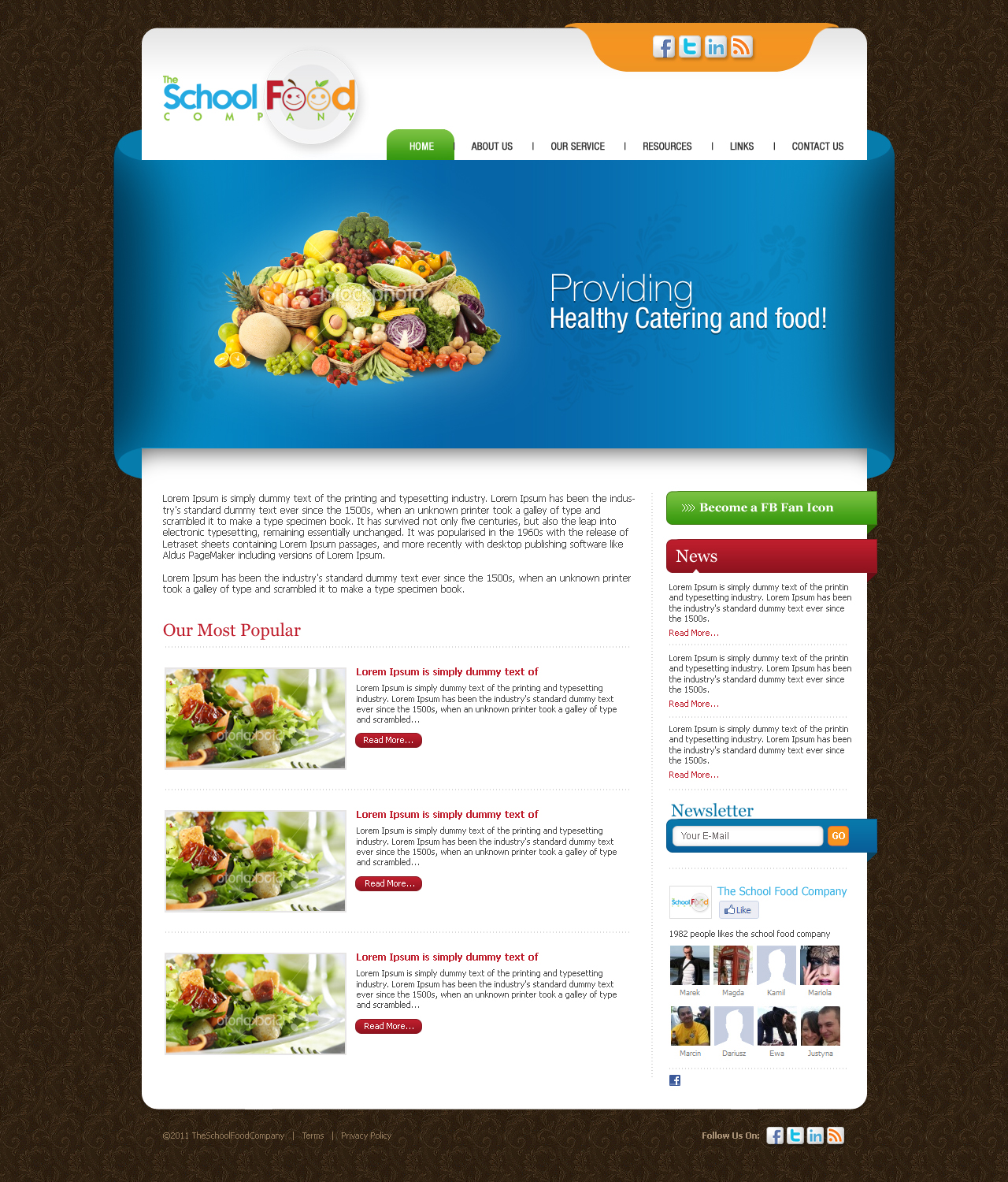 Elegant, Playful Wordpress Design for The School Food Company by ...
