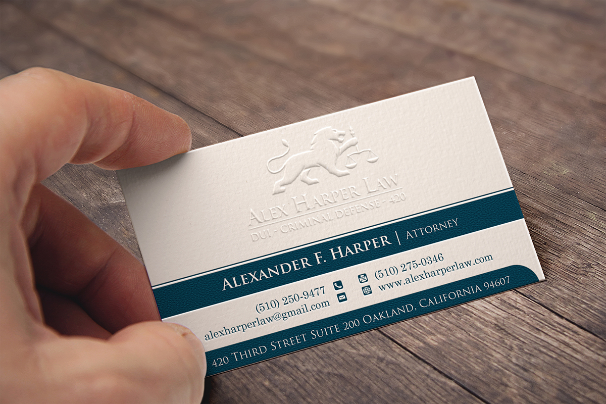 Serious, Professional, Business Business Card Design for Law Office ...