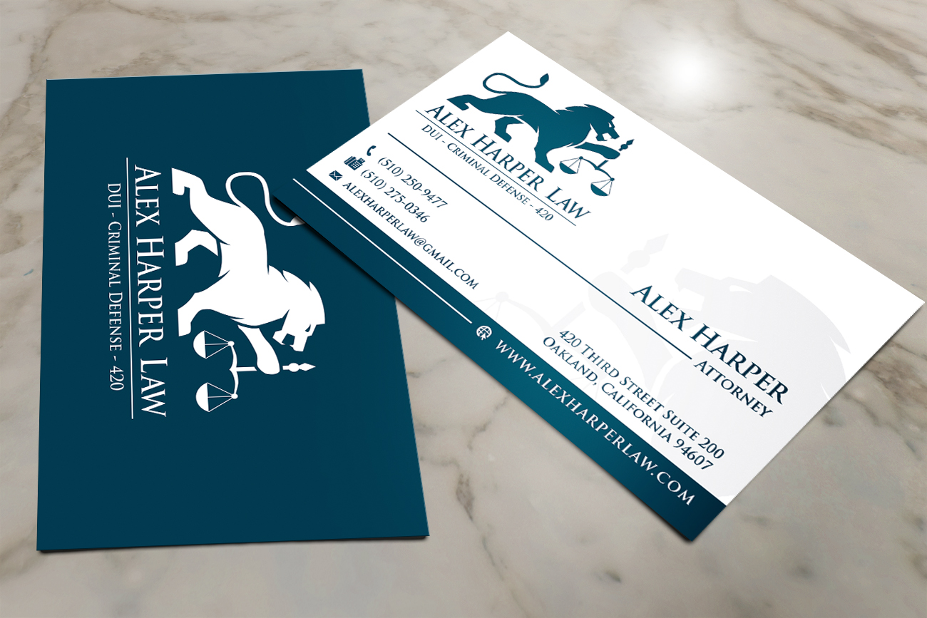 Serious, Professional Business Card Design for Law Office of ...