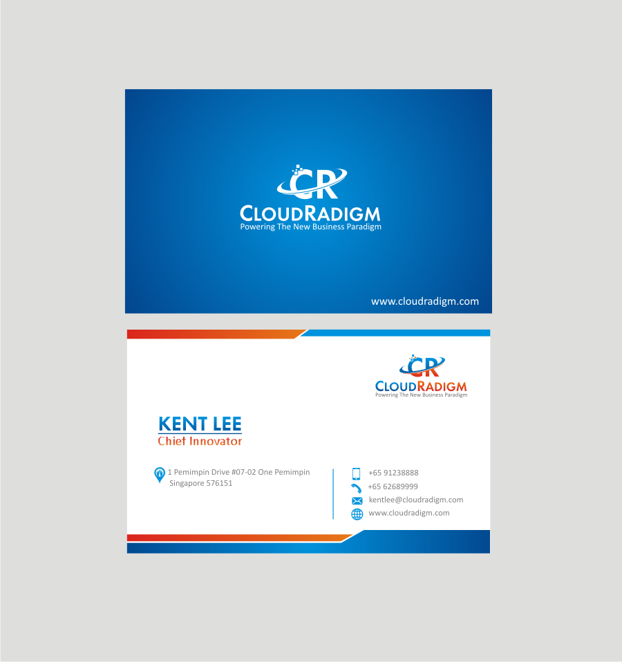 Modern, Professional, Software Business Card Design for a Company by ...