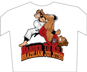 T-shirt Design by Graphicsexpert - HTK Brazilian Jiu Jitsu T-Shirt