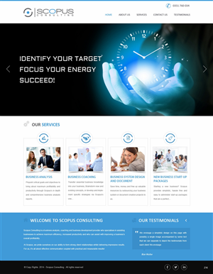 Web Design by pb - Business Consulting Company requires a website ...