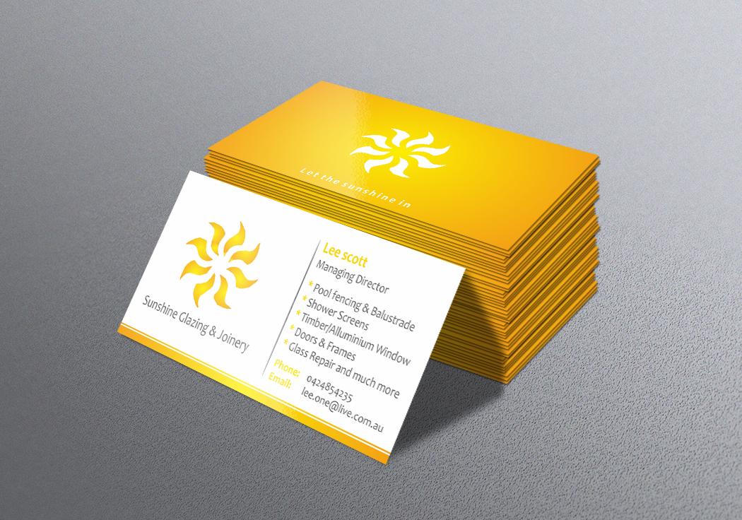 Sunshine business cards yeniscale sunshine business cards colourmoves