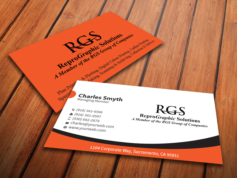 Elegant professional printing business card design for a company business card design by mediaproductionart for this project design 4722992 reheart Gallery