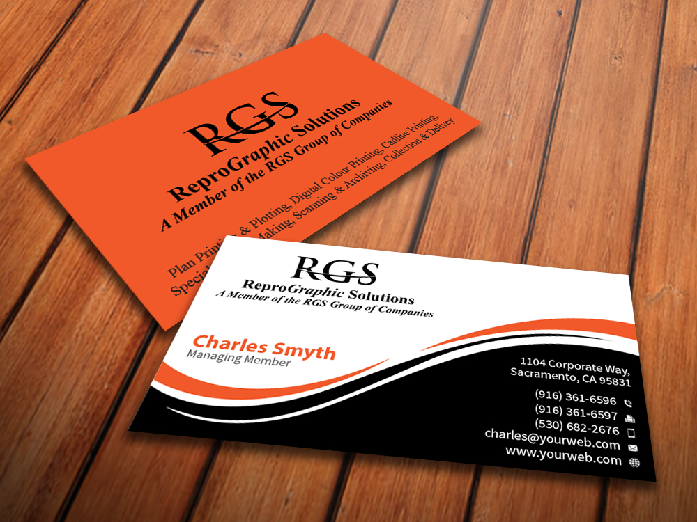 Elegant professional printing business card design for a company business card design by mediaproductionart for this project design 4723099 reheart Gallery