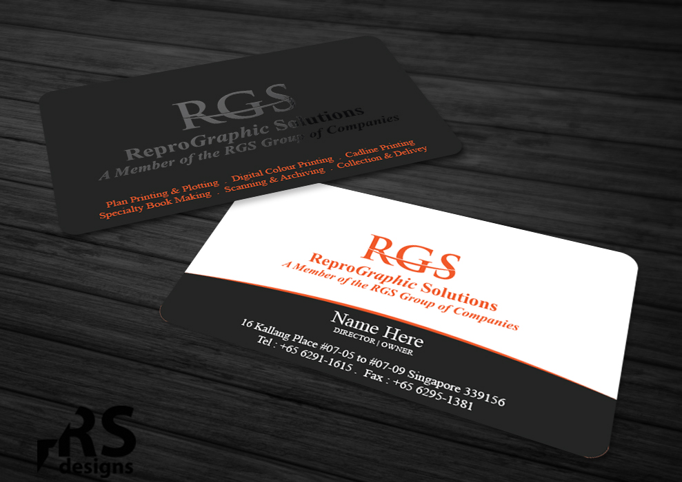 Elegant professional printing business card design for a company business card design by rs designs for this project design 4746873 reheart Images