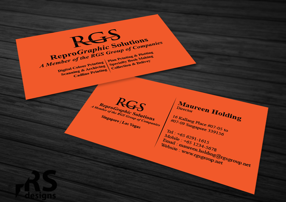 Elegant Professional Printing Business Card Design For A Company