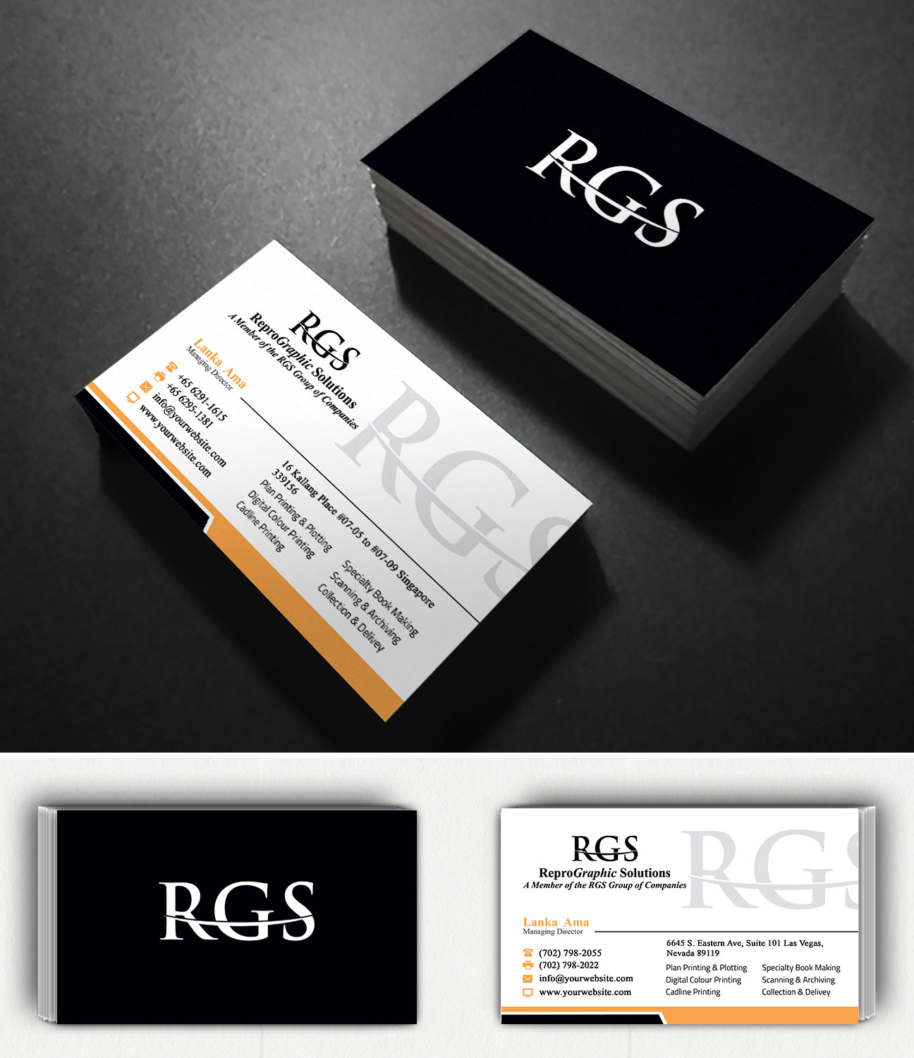 Elegant professional printing business card design for a company business card design by creation lanka for this project design 4717982 reheart Gallery