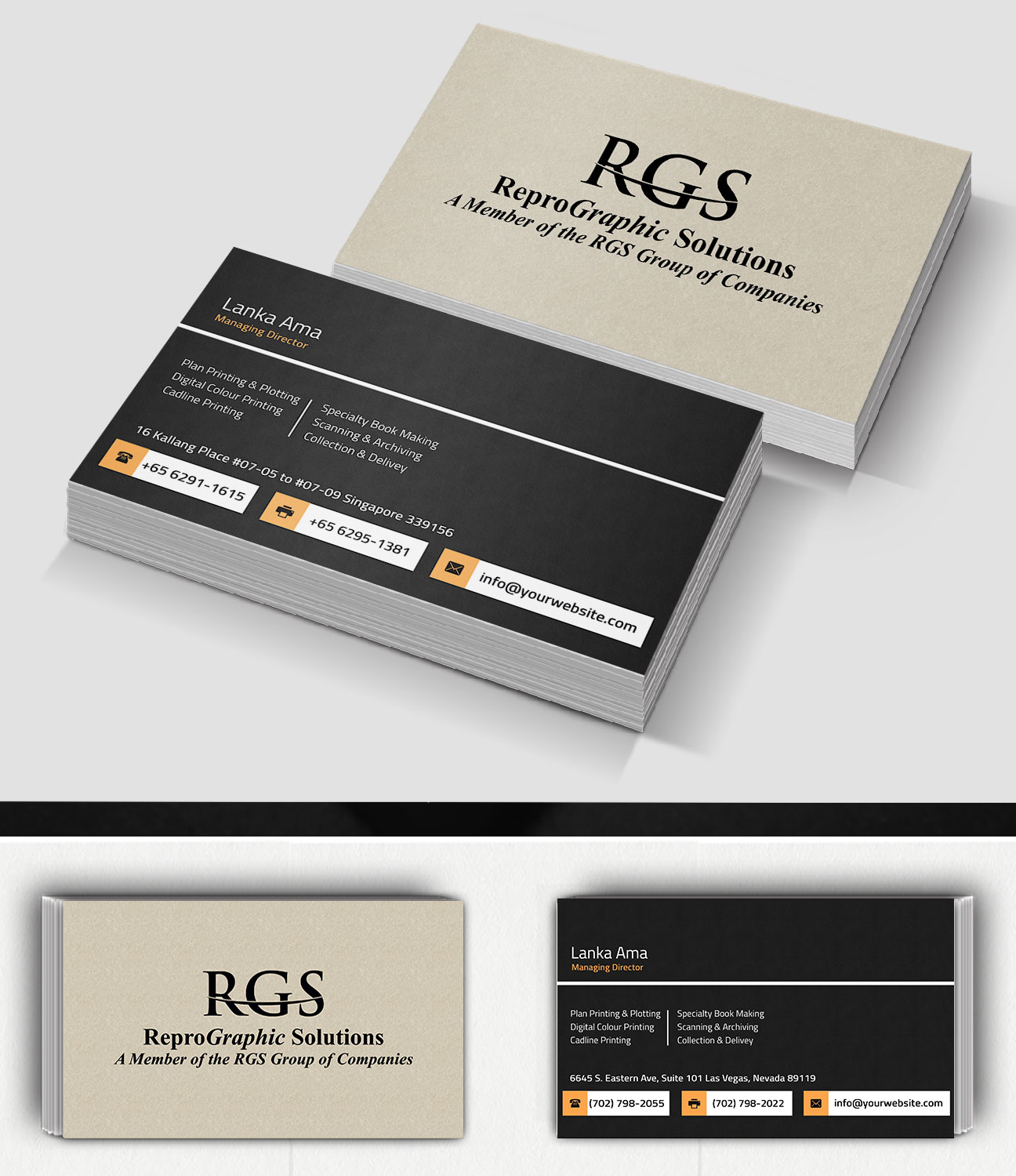 Elegant professional printing business card design for a company business card design by creation lanka for this project design 4718009 reheart Gallery