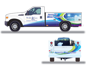 Graphic Design by GABICO - Design for truck graphic: Powered by Clean Propane
