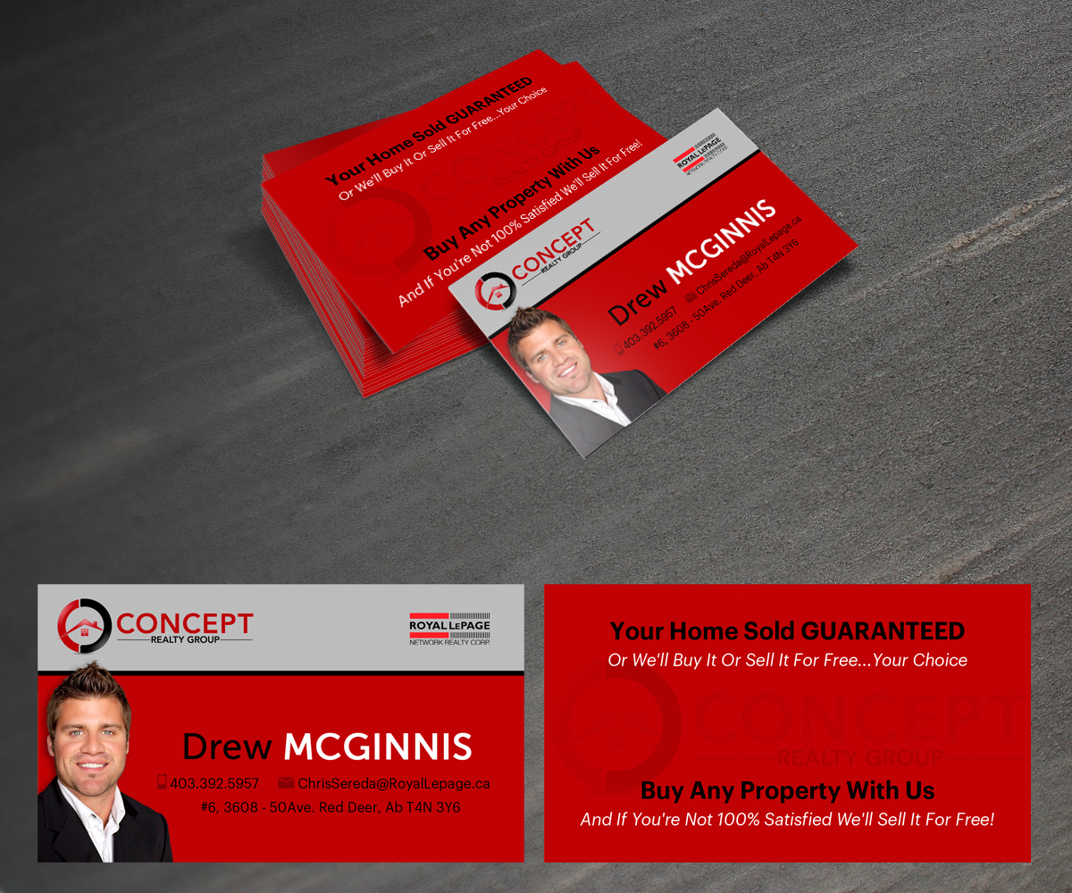 Real estate business card design for a company by raph design 1314722 business card design by raph for this project design 1314722 reheart Gallery