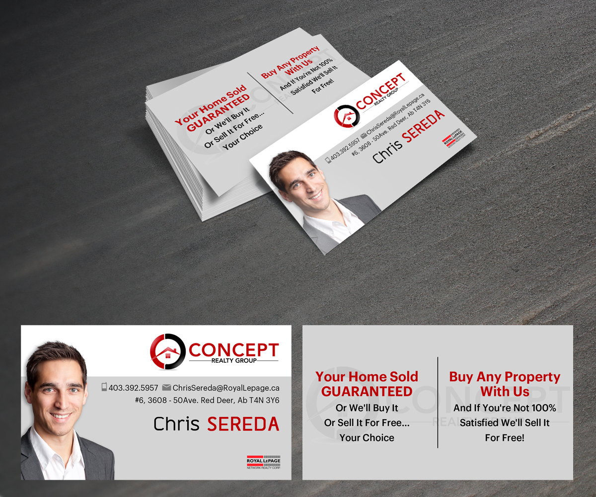 Business card design for chris sereda by raph design 1314724 business card design by raph for concept realty group business card design 1314724 reheart Images