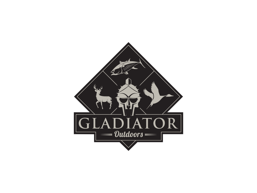 logo design for gladiator outdoors by shadowcaster studios design