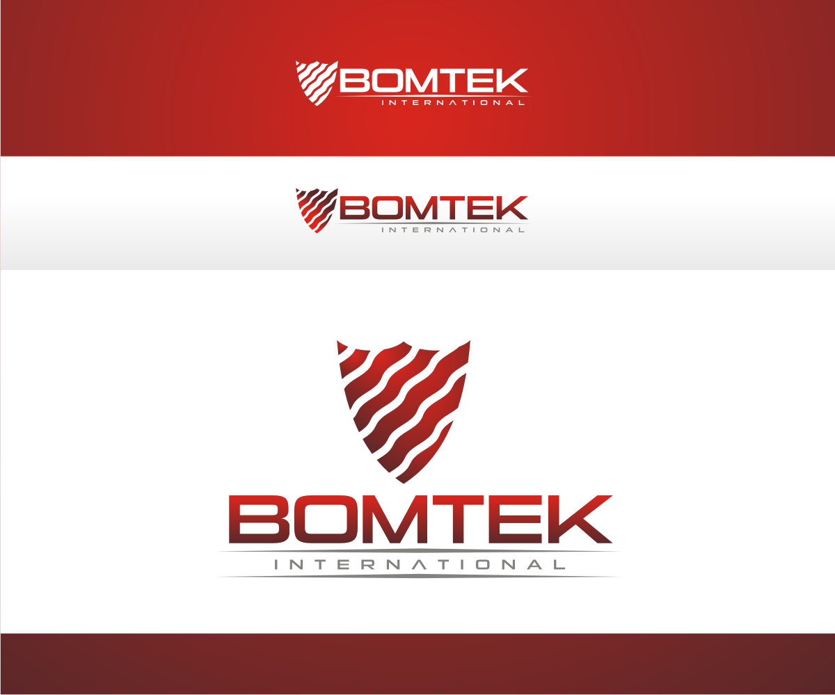 Business logo design for bomtek international by r i d for International design company