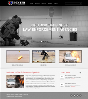Web Design by pb - Security based company delivering High Risk Tra ...