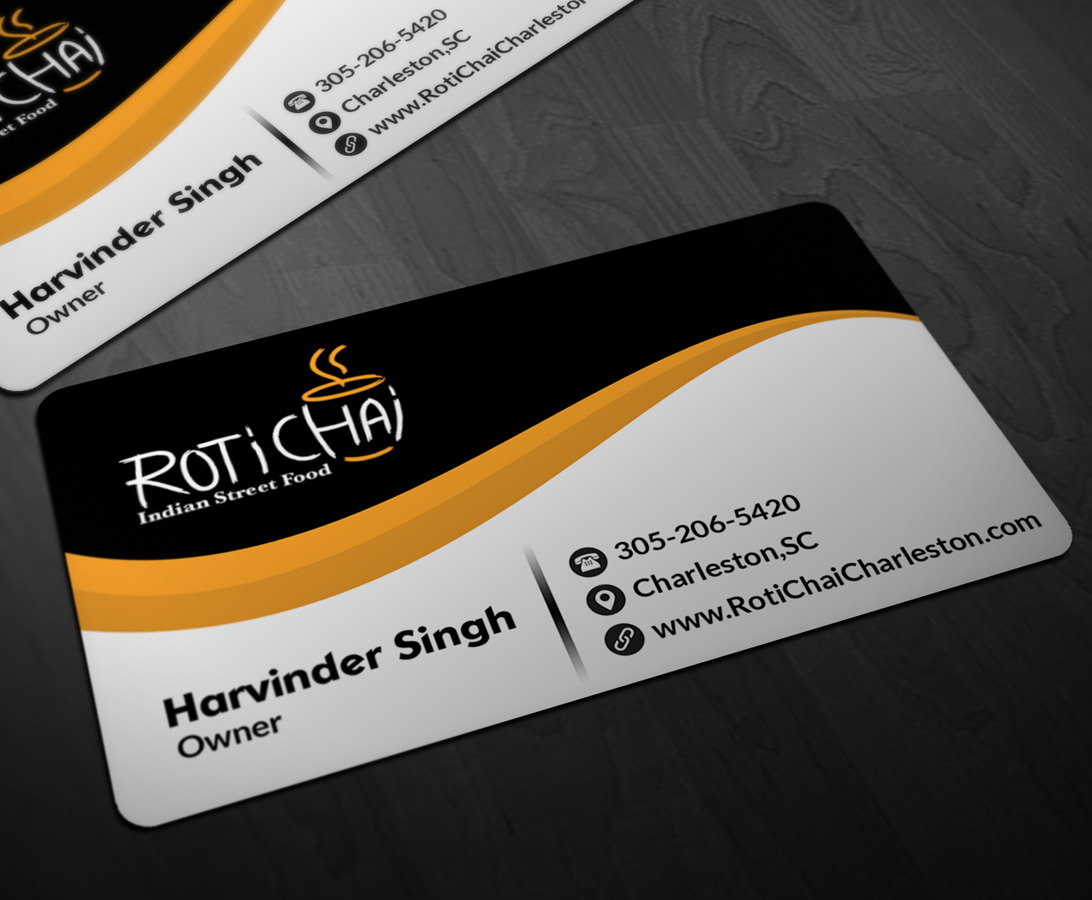 Playful modern indian restaurant business card design for a business card design by pointless pixels india for this project design 4716413 reheart Choice Image