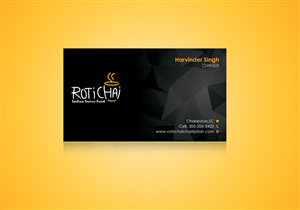 Business Card Design 4707954 Submitted To Roti Chai Food Truck Catering