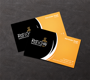 Roti Chai Food Truck Catering Business Card