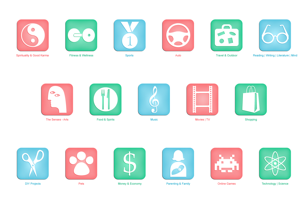 20 playful modern icon designs for a business in united states icon design design 1425911 submitted to icon set for hobbies interests