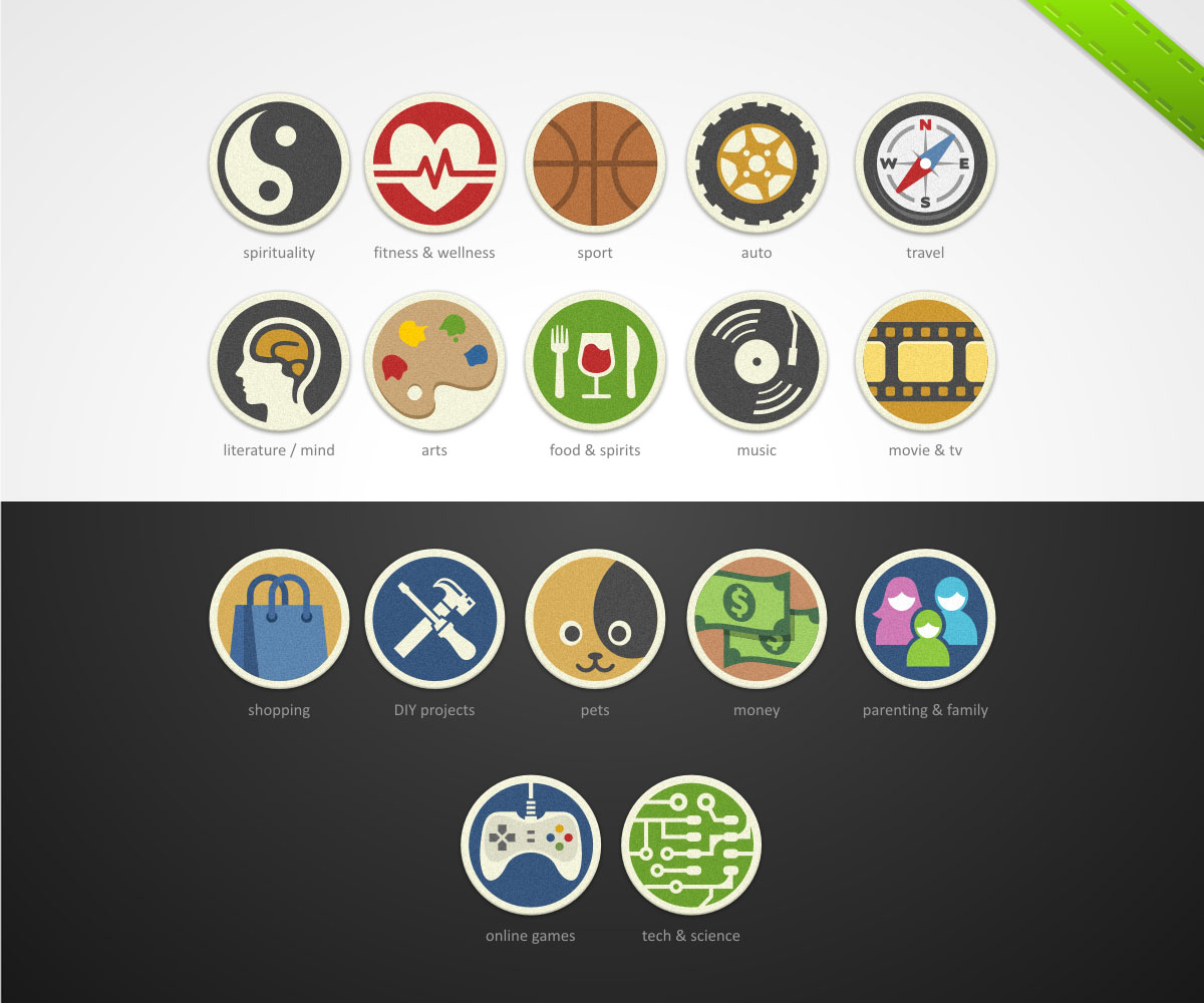 playful modern icon design for qualquant signals by chartreuse icon design by chartreuse for icon set for hobbies interests passions design