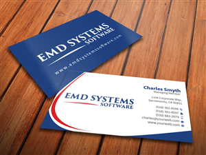 Computer software business card design galleries for inspiration business card design for emd systems software by mediaproductionart reheart Gallery