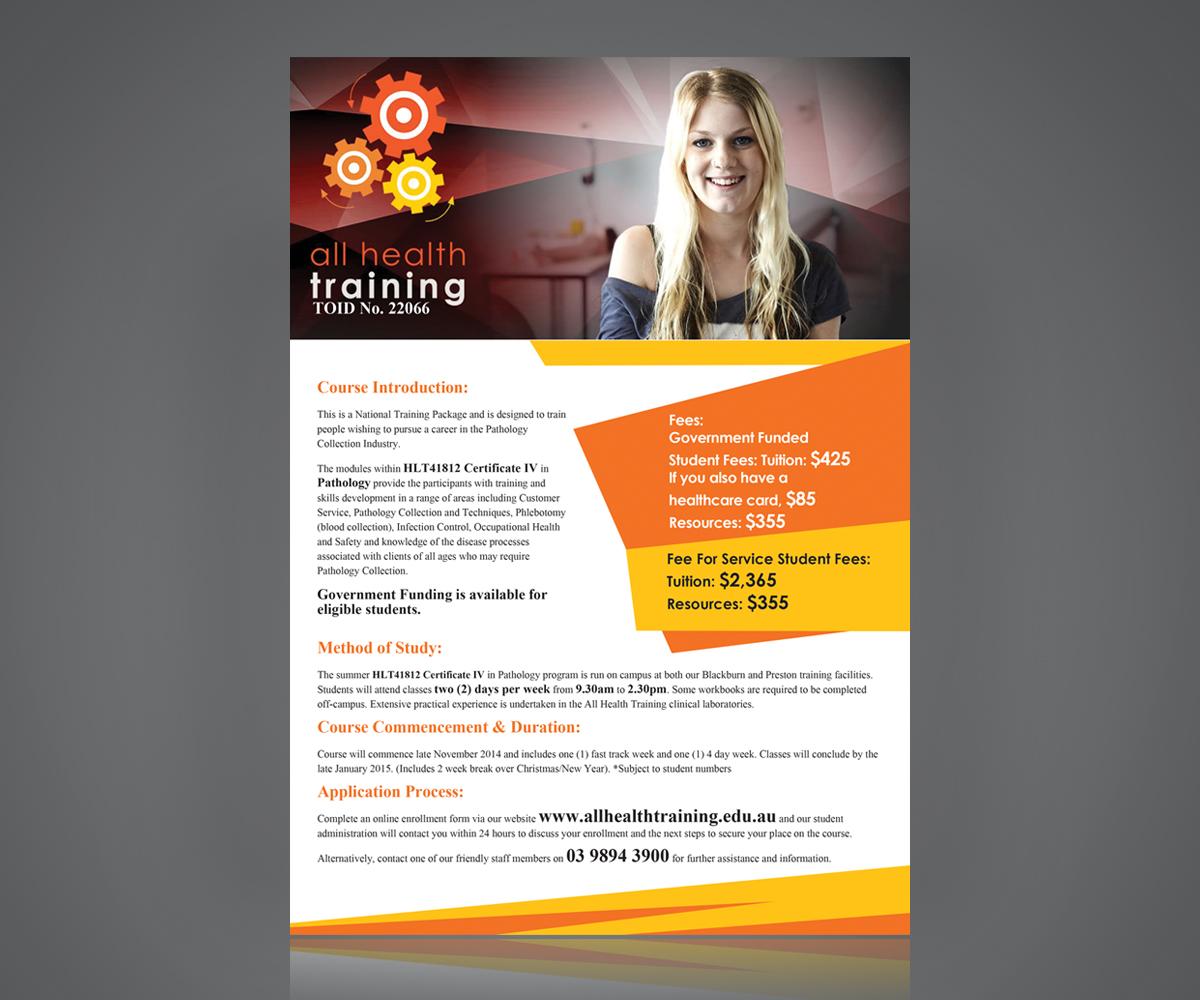 Flyer Design for All Health Training by globotrix | Design #4659463
