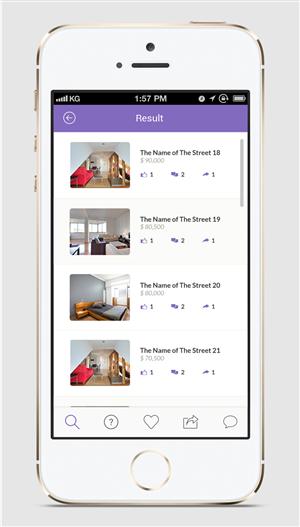 App Design by Lauren - Social house sales