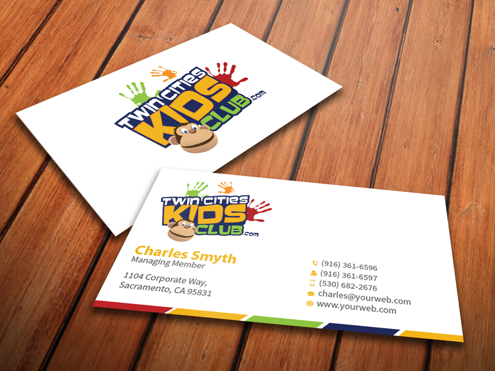 Playful Colorful Business Card Design for Brian by