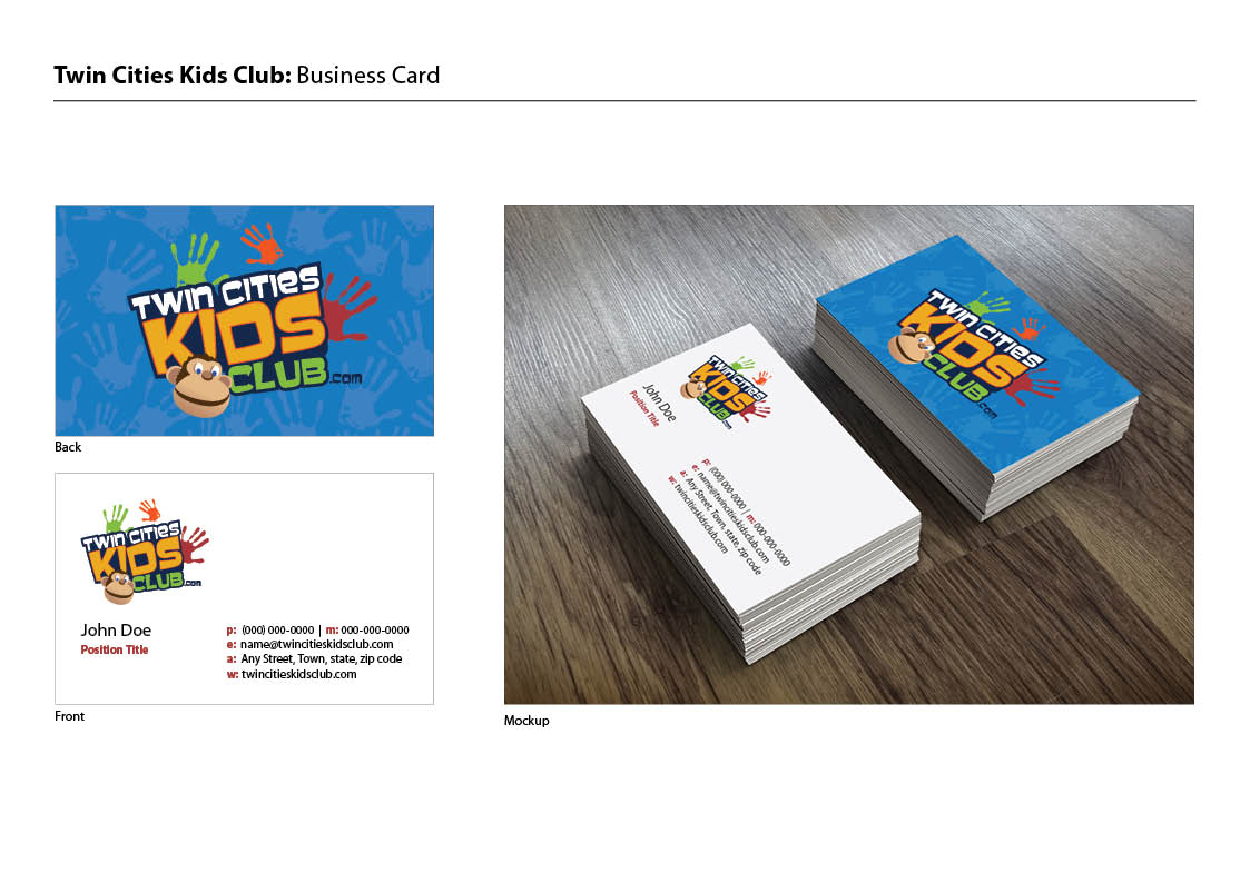 Playful, Colorful, Club Business Card Design for a Company by Miss ...