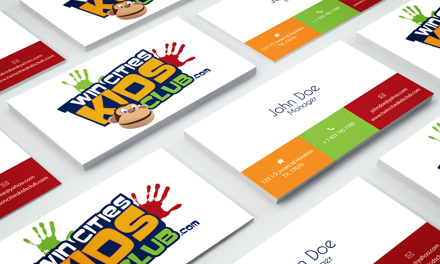 Business Card Design By Stylez Designz For Twin Cities Kids Club Business  Card Project   Design  Club Card Design