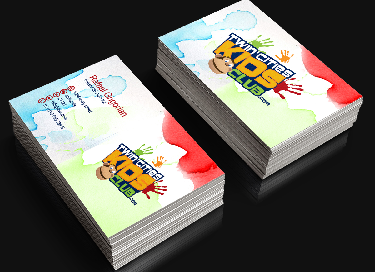 Playful Colorful Business Card Design for Brian by alexes