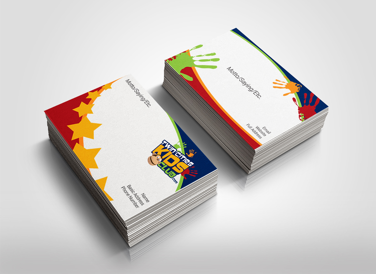 Playful Colorful Business Card Design for Brian by deleted – Club Card Design