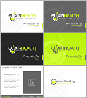 PowerPoint Design by Eminente - Elixir Health Public Relations Power Point Temp...