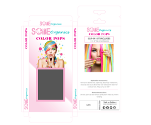 Flyer Design by  MicroZ - Sobe Organics Color Pops, Remover and Clips Box