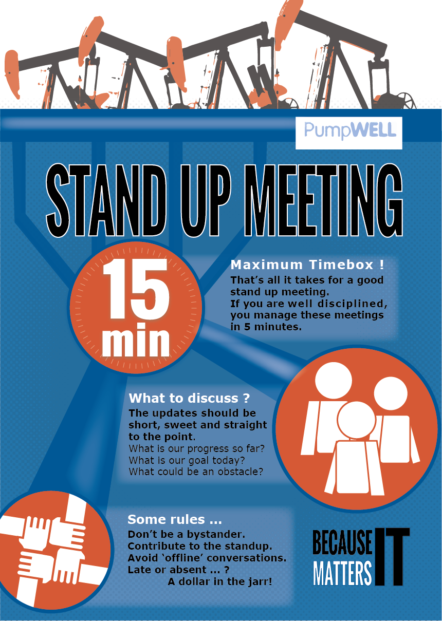 Poster design rules - Poster Design By Kenny Vanhaelewyn For Standup Meeting Rules Design 4733281