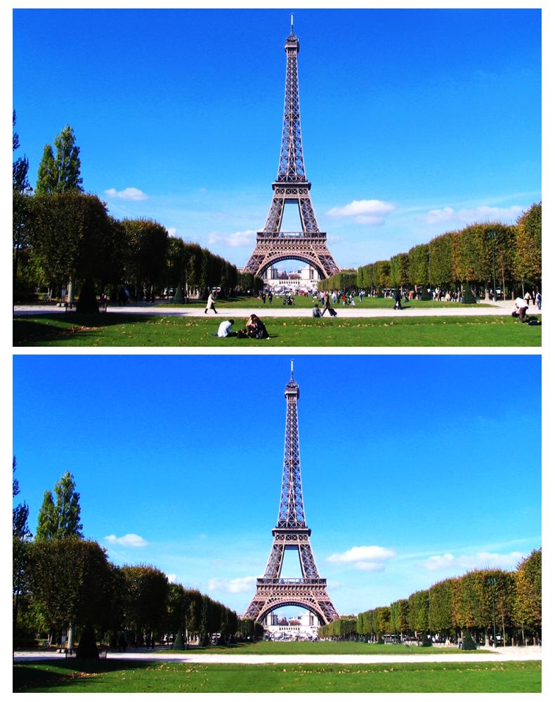 Alternative images of an iconic french landmark to for Landmark design