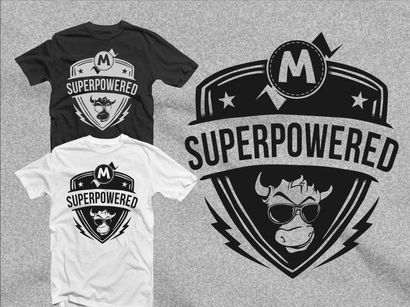 Bold modern t shirt design for moogento by hatemachine for T shirt design service