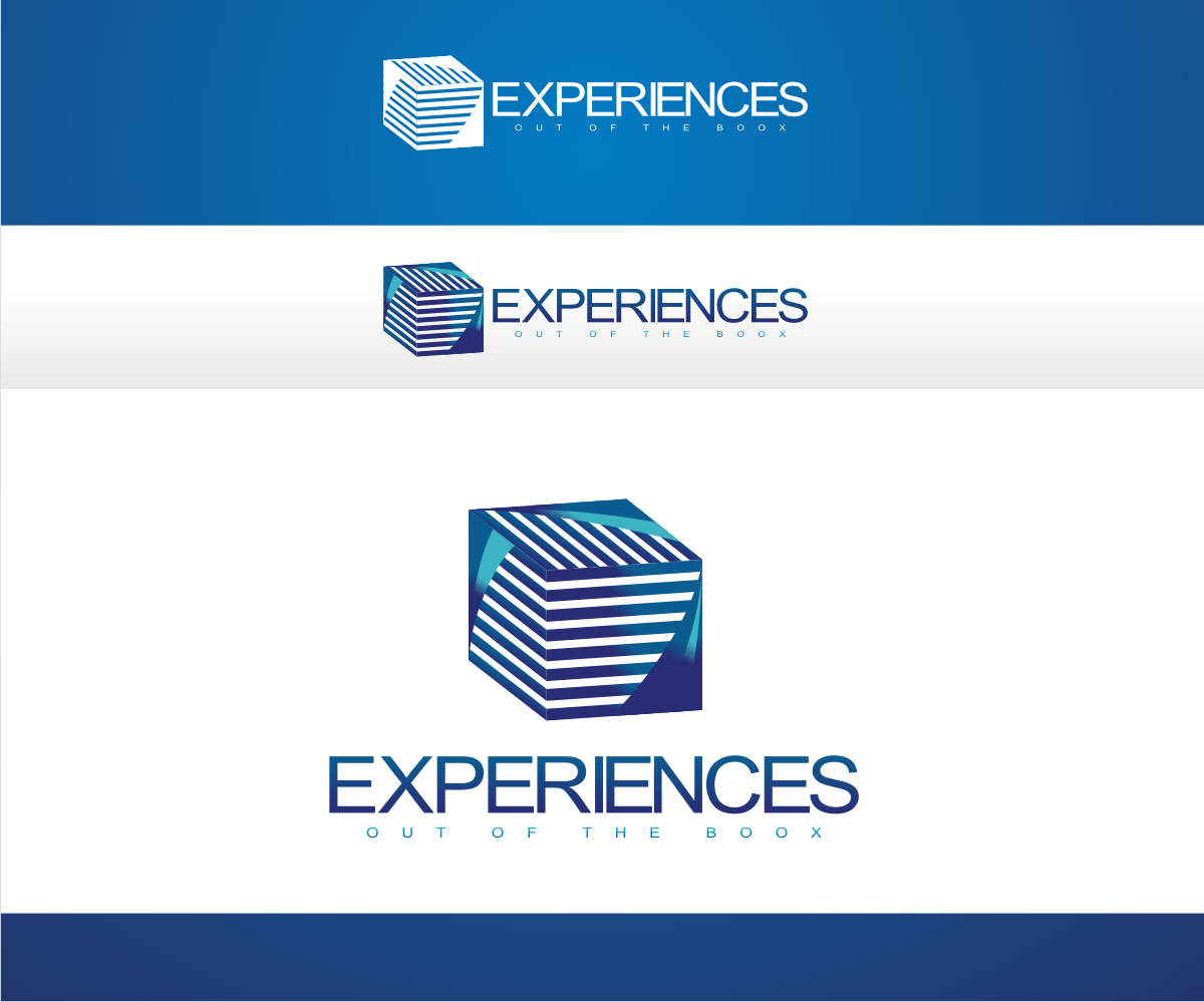Logo design for experiences out of the book by r i d for D for design