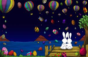 Illustration Design by Karen Gameiro - Easter Fiber Optic Photo Folio